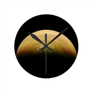 Polar View of jupiter Round Clock