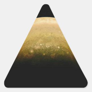 Polar View of jupiter Triangle Sticker