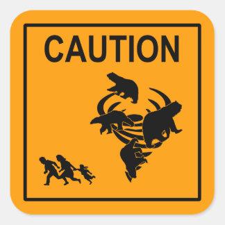 Polar Vortex Caution Square Sticker