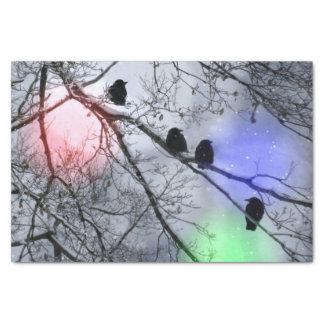 Polar Winter Holiday Birds Tissue Paper