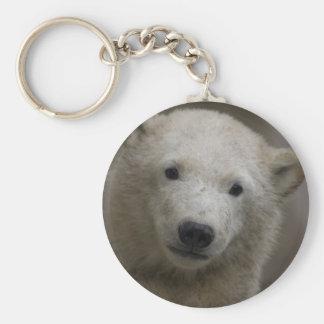 Polarbear Basic Round Button Keychain
