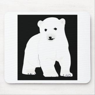 PolarBearCubBlackSF Mouse Pad