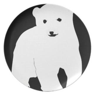 PolarBearCubBlackSF Plate