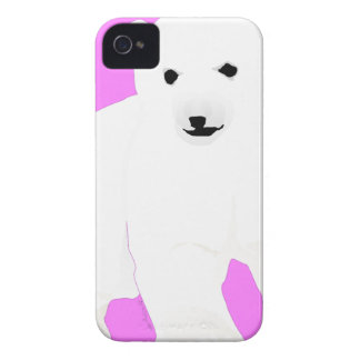 PolarBearCubPinkSF Case-Mate iPhone 4 Cases