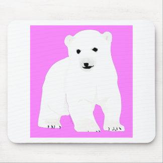 PolarBearCubPinkSF Mouse Pad