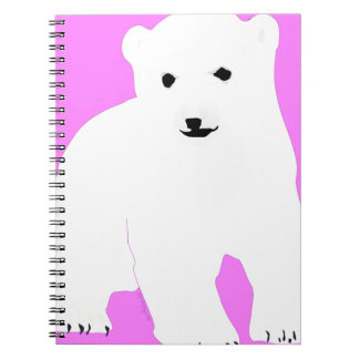 PolarBearCubPinkSF Notebook