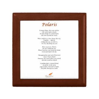 Polaris Poem on Wooden Jewelry Keepsakes Box