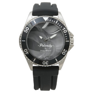 Polarity Abstract Stainless Steel Watch
