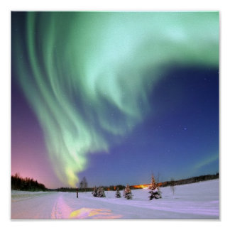 Polarlicht Poster