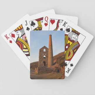 Poldark Country Mine Ruins Cornwall England Poker Deck
