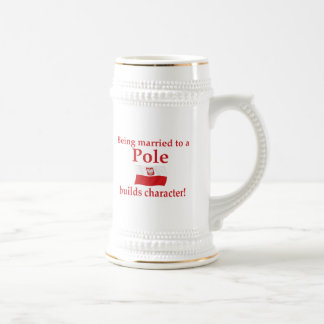 Pole Builds Character 18 Oz Beer Stein