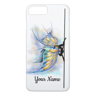 Pole Dance Butterfly with Wings Custom Name iPhone 8 Plus/7 Plus Case