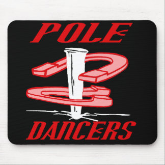 Pole Dancers Red Mousepad