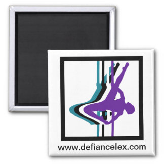 Pole Fitness Silhouette Magnet