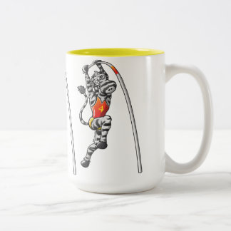 Pole Vault Zebra Two-Tone Coffee Mug