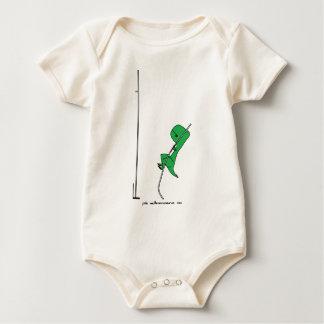 pole vaulterannosaurus rex baby bodysuit