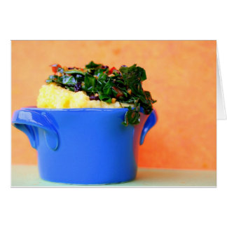Polenta with Greens Note Card