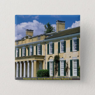Polesden Lacey, Great Bookham, Dorking, England, U 2 Inch Square Button