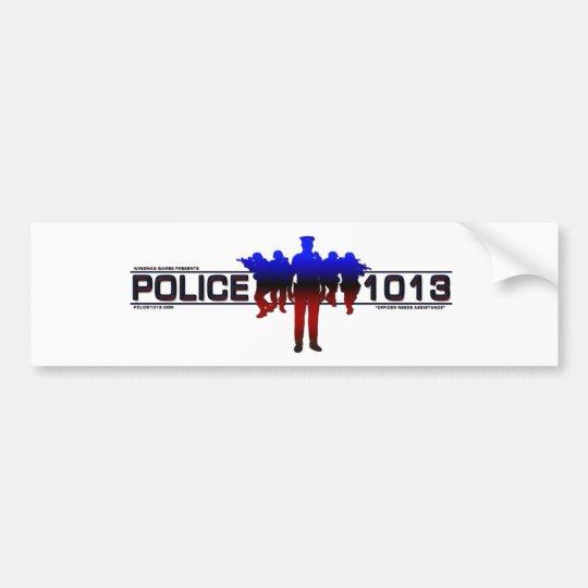 Police 1013 bumper sticker