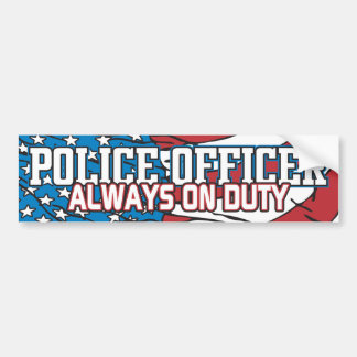 Police Always on Duty Bumper Stickers