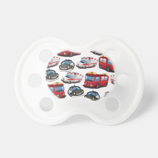 Police, Ambulance and Fire Service transport Baby Pacifier