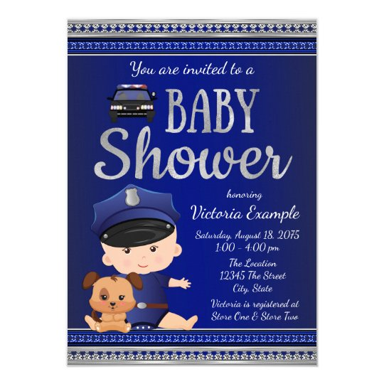 Police Baby Shower Invitation
