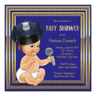 Police Baby Shower Invitations