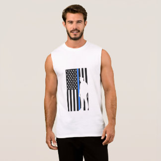 police back american flag the blue sleeveless shirt