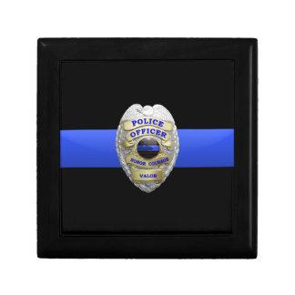 Police Badge and Brass Keeper Box Keepsake Box