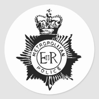 Police Badge Classic Round Sticker