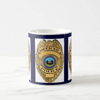 POLICE BADGE COFFEE MUG