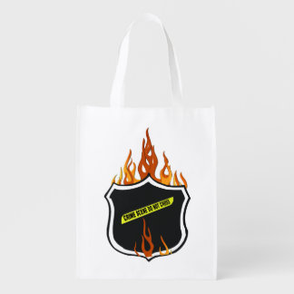 Police Badge Flames Market Tote