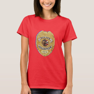 Police_Badge_Volunteer T-Shirt
