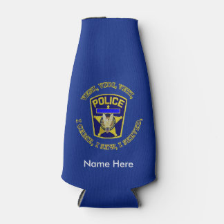 Police Badge VVV Custom Bottle Cooler