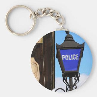 Police Basic Round Button Keychain