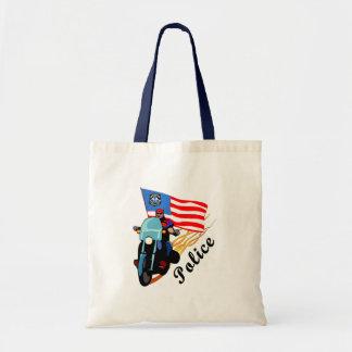 Police Bikers Canvas Bag