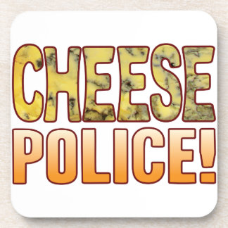 Police Blue Cheese Drink Coaster