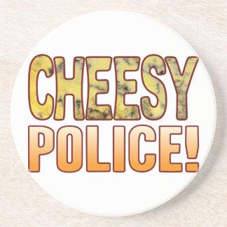 Police Blue Cheesy Drink Coaster