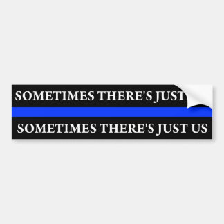 Police Blue Thin Line Bumper Sticker(Justice) Bumper Sticker