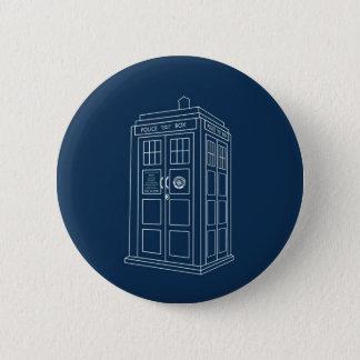 Police Box 2 Inch Round Button