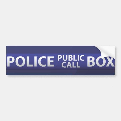 Police Box Bumper Stickers
