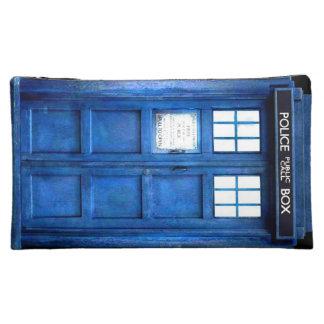 Police box travel bag makeup bag