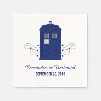 Police Box Wedding Paper Napkins v3