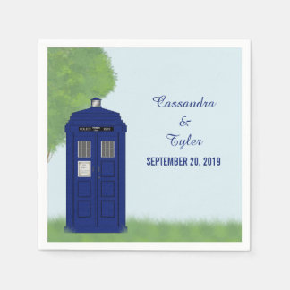 Police Box Wedding Paper Napkins v4
