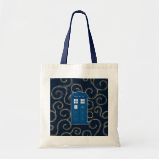 """""""Police Box with Swirls"""" Tote Bag"""