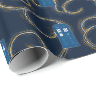 """""""Police Box with Swirls"""" Wrapping Paper"""