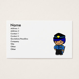 Police Boy Business Card