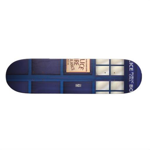 Police Call Box Skate Board Deck