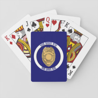 Police Captain Badge Shield Custom Playing Cards