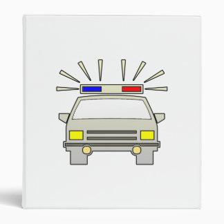 Police Car 3 Ring Binder